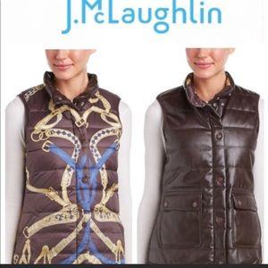 J.McLaughlin Reversible Faux Leather Vest Jacket